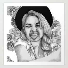 Debby Ryan Art Print