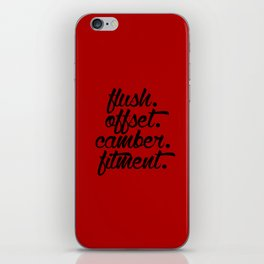 flush offset camber fitment v3 HQvector iPhone Skin