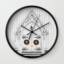 Christmas Door No 2 Wall Clock