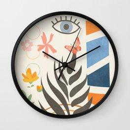 Abstract Summer 2 Wall Clock
