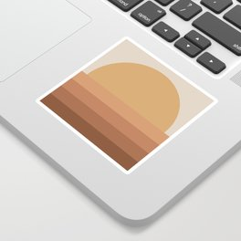 Minimal Retro Sunset / Sunrise - Desert Orange Sticker