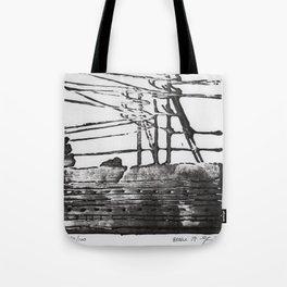 Lines, Black Tote Bag