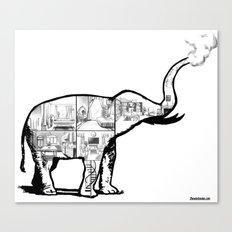 Elephant House Canvas Print