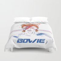 bowie Duvet Covers featuring Bowie by Usagi Por Moi