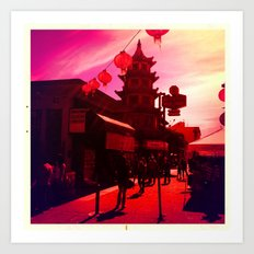 The Red Pagoda Art Print