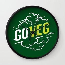 Go Veg sticker Wall Clock