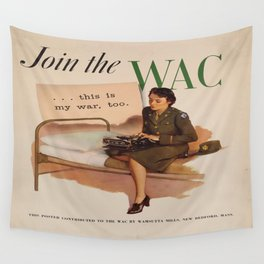 Vintage poster - WAC Wall Tapestry