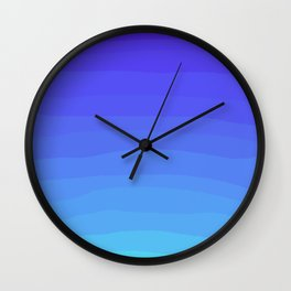 Cobalt Light Blue gradient Wall Clock