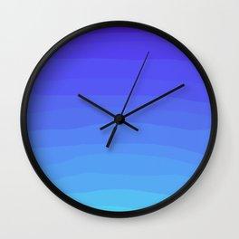 Cobalt Light Blue gradient Wall Clock