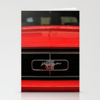 mustang Stationery Cards featuring Mustang by Barbo's Art