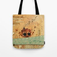 nautical Tote Bags featuring Nautical by Ingrid Castile