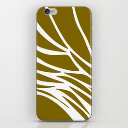 LINES DESIGN EXOTIC ON GOLD iPhone Skin