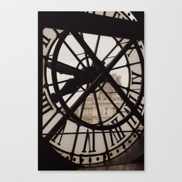 Passing of time in sepia tones. View from the Musée d'Orsay in Paris. Canvas Print