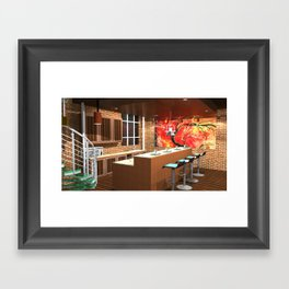 Loft Apartment Kitchen Framed Art Print