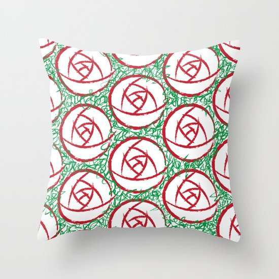 Roses & Thorns Throw Pillow