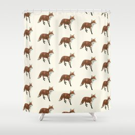 Mr Red Fox Shower Curtain