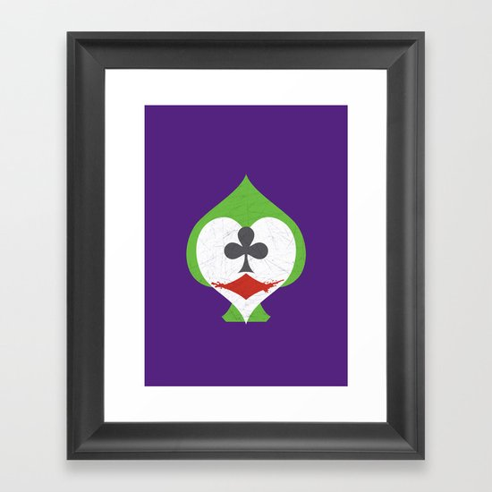 The Joker's Wild Framed Art Print
