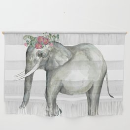 Ellie the Elephant and her flower crown Wall Hanging
