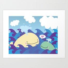 Whale Love Art Print