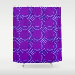 Japanese Cyberpunk Aesthetic Pattern Shower Curtain