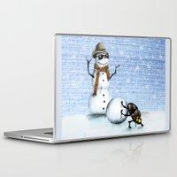snowman Laptop & iPad Skins featuring Snowman by Anna Shell
