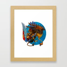 Sphinx vs. Gryphon Framed Art Print