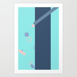 Popping Shapes Art Print
