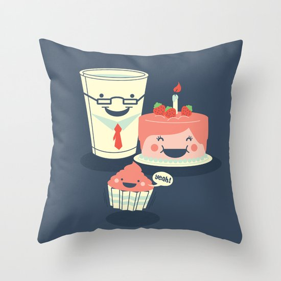Oh! my sweet little cupcake. Throw Pillow