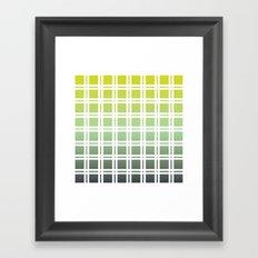 Green Weaver Framed Art Print