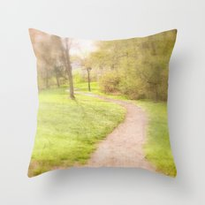 Winding Pathway Throw Pillow