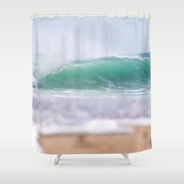 Sea Glass Waves Shower Curtain