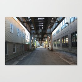 Brown Line, Ravenswood, Chicago Canvas Print