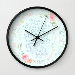 I Will Be With You - Isaiah 43:2 Wall Clock