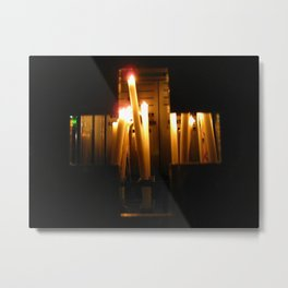 The Light of the Cross Metal Print