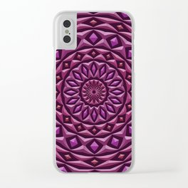 Carved in Stone Mandala Clear iPhone Case