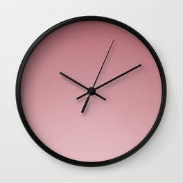 Rose Ombré Wall Clock