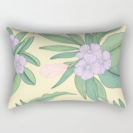 Jungle Daydream Purple Floral Print Rectangular Pillow