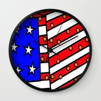 american Wall Clocks featuring American by Mariana