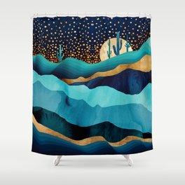Indigo Desert Night Shower Curtain