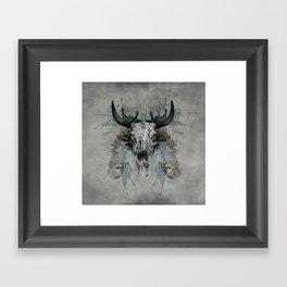 Something is squeezing my skull! Framed Art Print