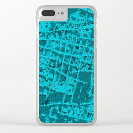 Blue Hippo Clear iPhone Case