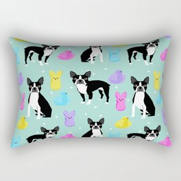 Boston Terrier dog breed peeps marshmallow treat easter spring traditions boston terriers Rectangular Pillow