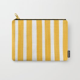Sunny Yellow Paint Stripes Carry-All Pouch