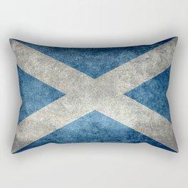 Flag of Scotland, Vintage retro style Rectangular Pillow