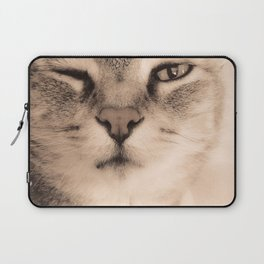 Wise Tabby Cat Laptop Sleeve