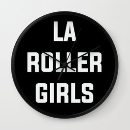 LA Roller Girls Wall Clock