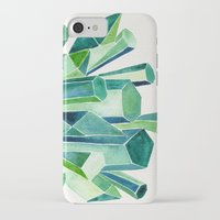 emerald iPhone & iPod Cases featuring Emerald Watercolor by Cat Coquillette