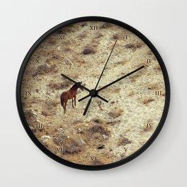 Horse in Santorini Wall Clock
