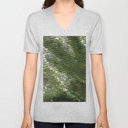Green spangle Unisex V-Neck