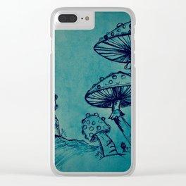 Mushroom Garden Clear iPhone Case